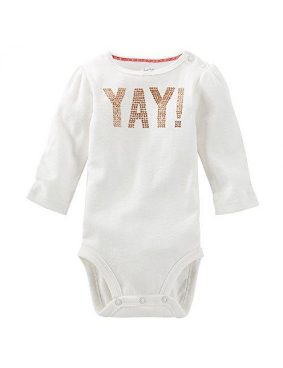 OshKosh B'gosh Baby Girls' Yay! Bodysuit - Ivory