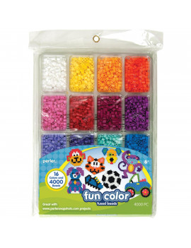 PERLER FUSED BEAD TRAY FUN COLOR 4,000 COUNT, MULTIPACK OF 2-