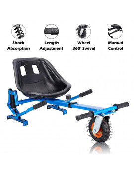 """Blue Upgrade Hoverboard Go Kart Seat Attachment, Conversion Kit, Hoverboard Go Cart Accessories, Heavy Duty Frame, Fun for Kids Fits 6.5""""/8""""/10"""""""