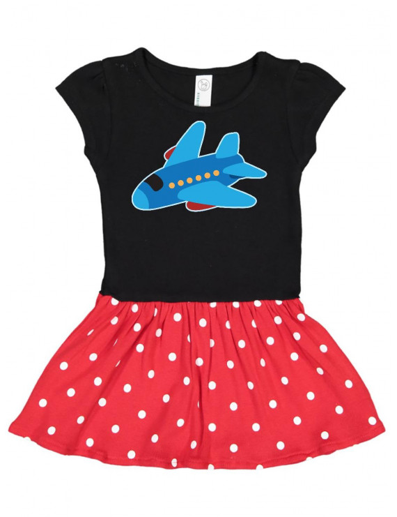Jet Airplane Childs Plane Toddler Dress