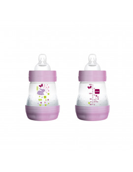 MAM Baby Bottles for Breastfed Babies, MAM Baby Bottles Anti-Colic, Girl, 5 Ounces, 2-Count