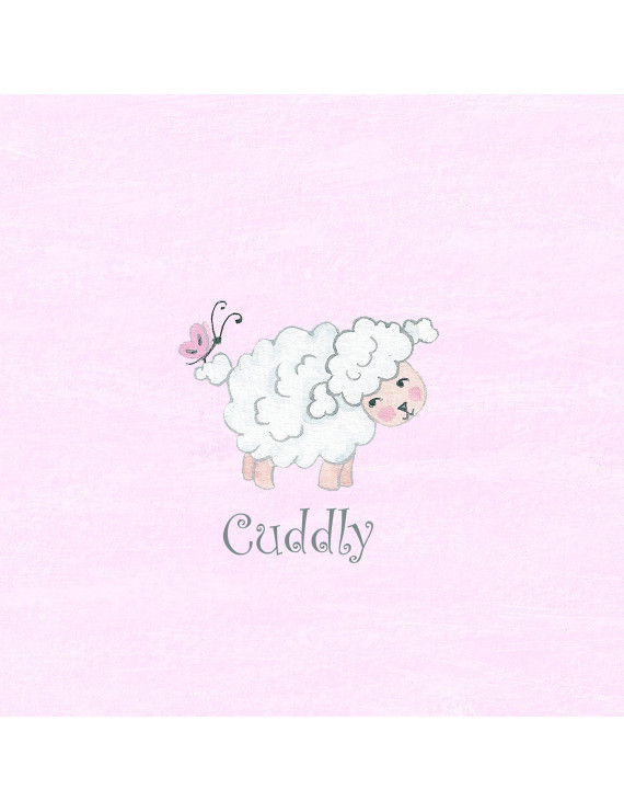 """Cuddly"" Lamb Wall Art"