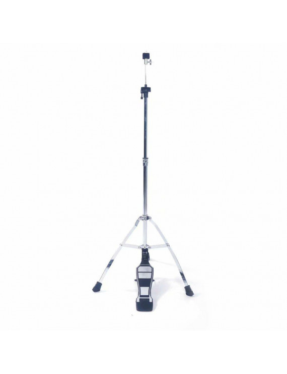 Glarry Professional Pedal Control Style Hi-Hat Stand with Pedal Silver & Black