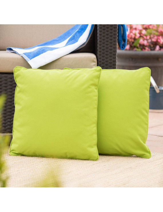 Coronado Outdoor Square Water Resistant Pillow - Set of 2