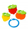 1 Set Infant Toy Teether Silicone Fruit Shape Molar Toys New Baby Dental Care Toothbrush Training Toddler
