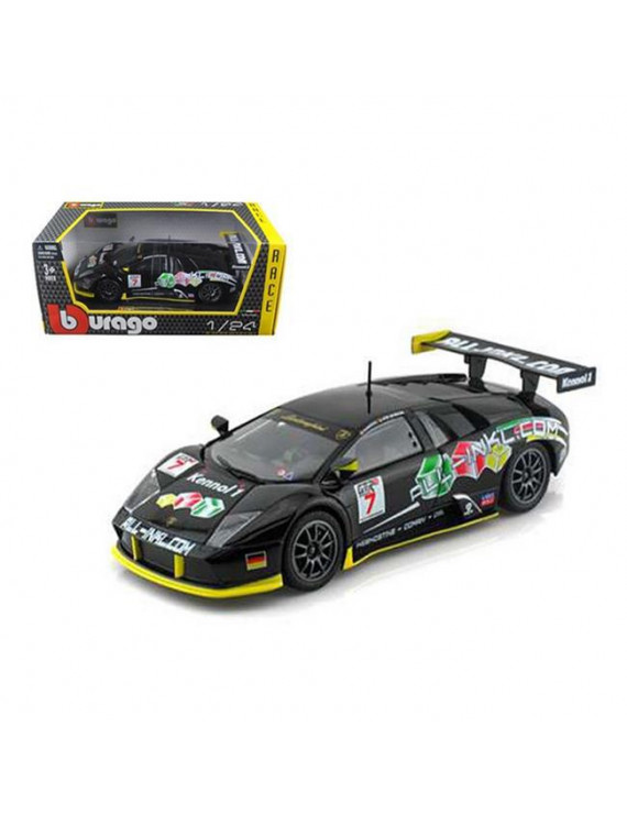 Lamborghini Murcielago FIA GT #7 Black 1/24 Diecast Car Model by Bburago