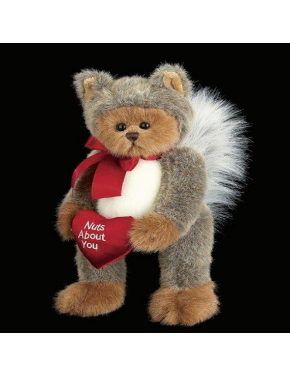 """Bearington Nuts About You Stuffed Animal Valentine's Teddy Bear in Squirrel Suit 13"""""""