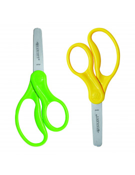 "Westcott 5"" Pointed Kids Scissors, 2 Pack, Assorted Colors"