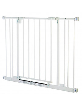 North States Easy Close 38.5 Inch Metal Baby Pet Safety Gate, White (2 Pack)