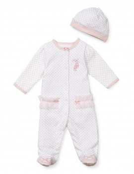 Little Me Baby Girls Prima Ballerina Footie & Matching Hat PREEM