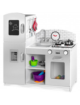 Best Choice Products Kids Pretend Play Kitchen Cook Toy Set w/ Sounds, 4 Utensils, Sink, Fridge, Stovetop, Accessories
