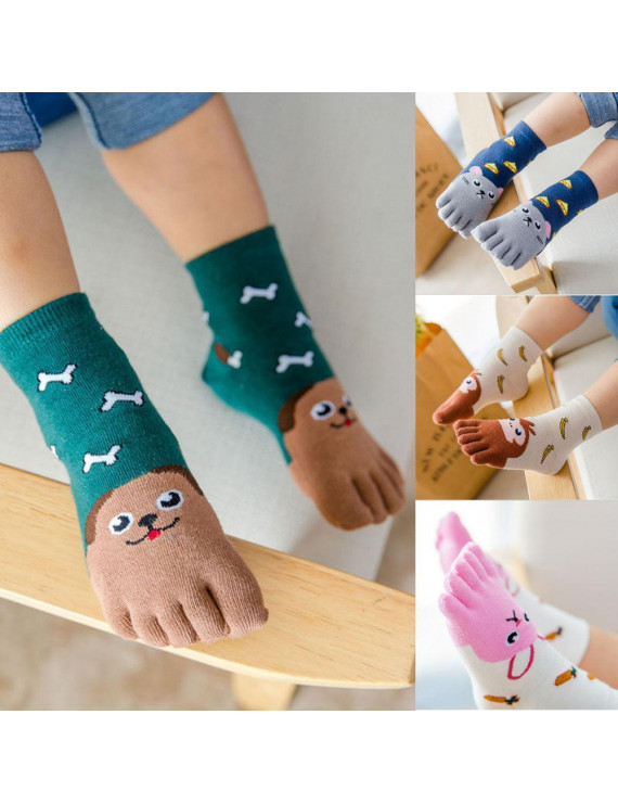 Cute New Baby Kids Toddler Clothes Non Slip Skid Socks Cartoon Funny Socks 3-12Y