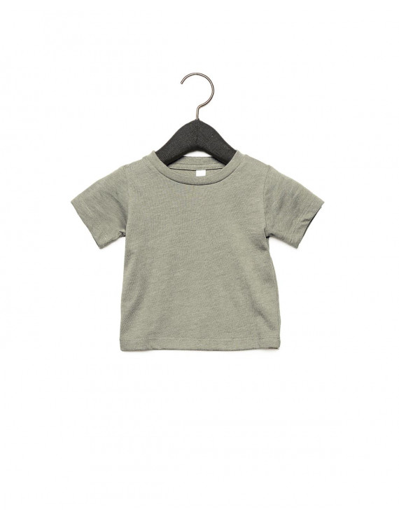 The Bella + Canvas Infant Jersey Short Sleeve T-Shirt - HEATHER STONE - 6-12MOS