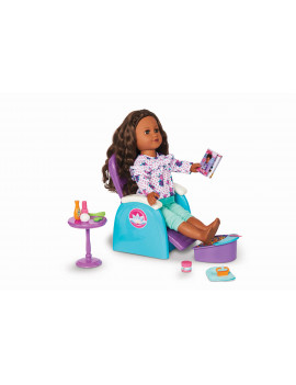 """My Life As 19-Piece Spa Chair Play Set for 18"""" Dolls"""