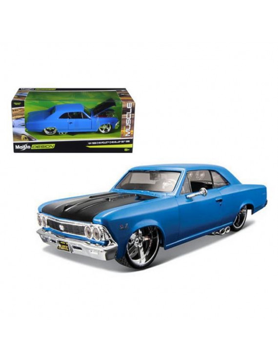 Maisto 1:24 Scale 1966 Chevrolet Chevelle SS 396 Blue Classic Muscle Diecast Model Car