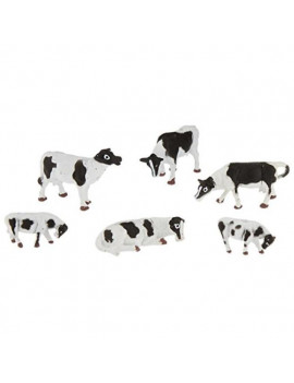 bachmann trains cows - black and white