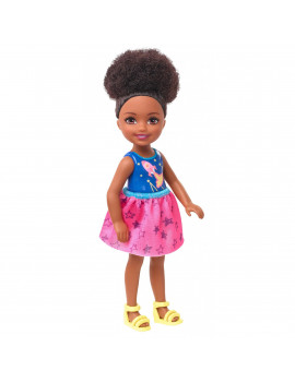 Barbie Club Chelsea Doll, 6-Inch Brunette Doll With Space-Themed Graphic