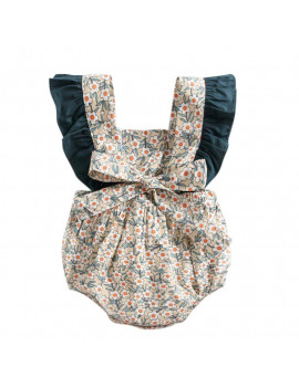 0-3Y Flower Baby Girls Ruffles Romper Summer Infant Girls Jumpsuit Playsuit Backless Sunsuit