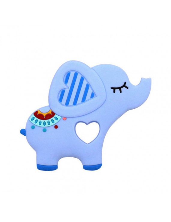 Iuhan Elephent Baby Teether Silicone Soother Pacifier Chewable Teething Toy Pendant