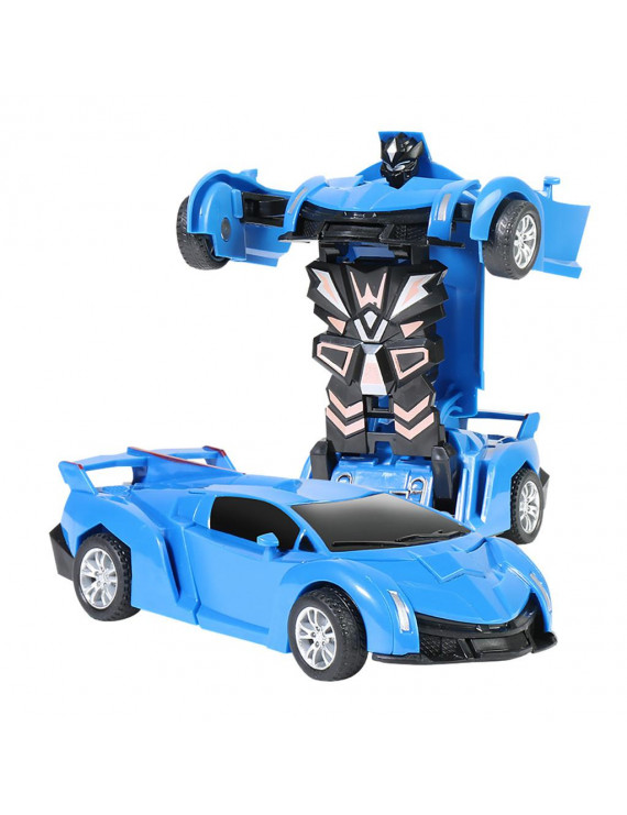 Gobestart 1:32 Pull Back The Collision Car Children Deformation Car Robot Toy For Kids
