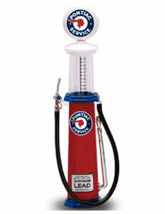 Cylinder Gas Pump Pontiac, Red - Yatming 98662 - 1/18 scale diecast model