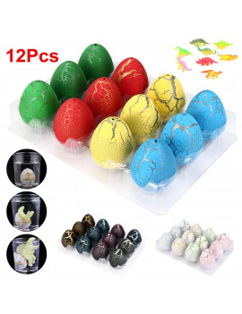 12Pcs Big Magic Hatching Dinosaur Toys Hatch and Grow Dinosaur Eggs that Hatch in Water for Kids Children Toy Gift Party Supplies