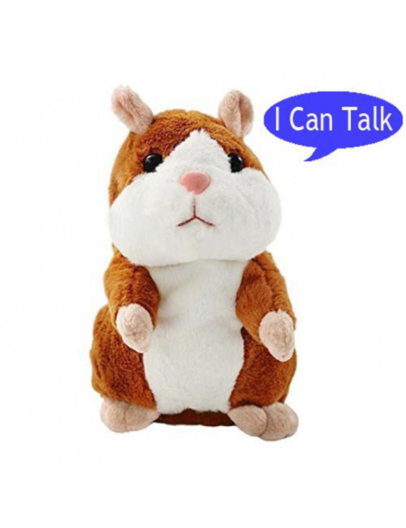 Mystery Talking Hamster Repeats What You Say Electronic Pet Plush Buddy Kid Gift