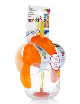 Munchkin Click Lock 7-Ounce Weighted Straw Flexi Cup (Orange)