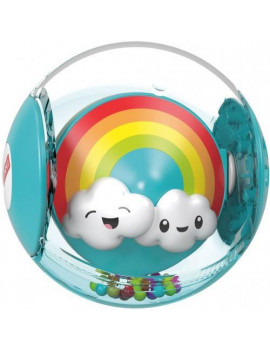 Fisher-Price Hello Sunshine Rattle Ball with Rainbow-Colored Beads