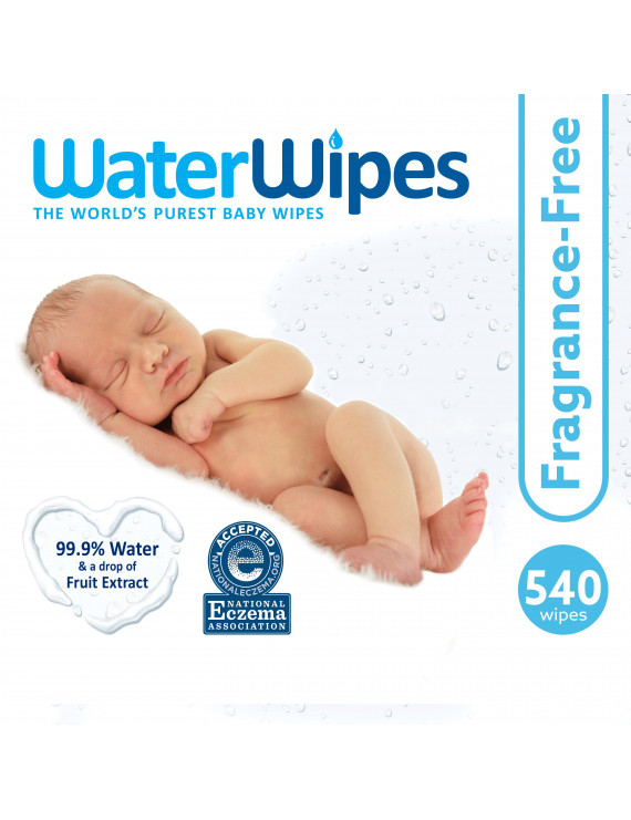 WaterWipes Sensitive Baby Wipes, Unscented, 540 Count (9 Packs of 60)