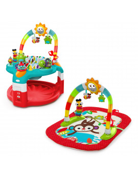 Bright Starts 2-in-1 Silly Sunburst Activity Gym & Saucer