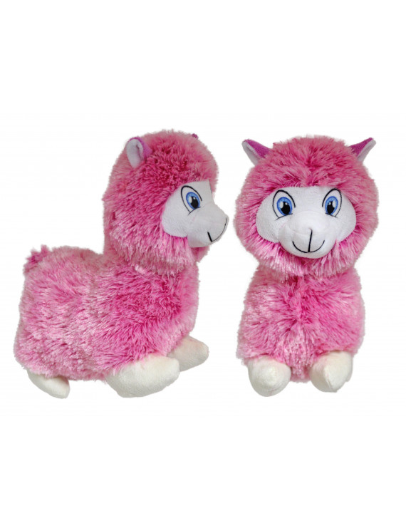 "#PlushPals 11"" Llama Alpaca Stuffed Animal Plush Toy Soft & Fluffy - Pink"