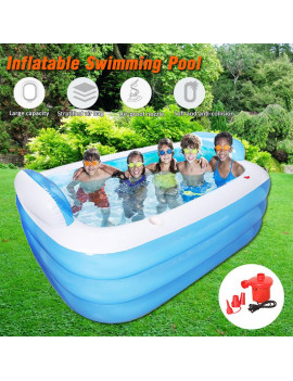 59/71 inch Inflatable Swimming Pools Family Swimming Pool Or Air pumps, Swim Center for Kids, Adults, Babies, Toddlers, Garden, Backyard, Summer Water Party