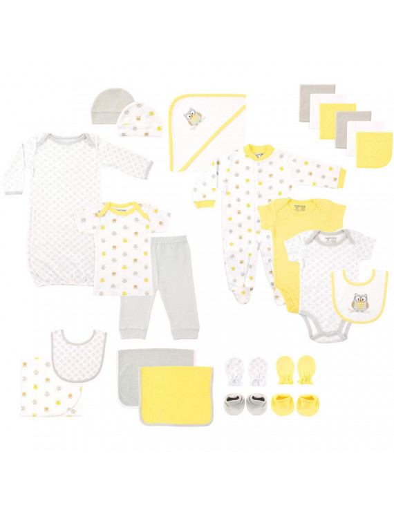 Luvable Friends Baby Boy or Girl Gender Neutral Baby Shower Gift Set, 24pc
