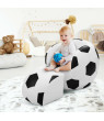 Costway Football Shape Kids Sofa Chair Couch Children Toddler Birthday Gift w/ Ottoman