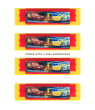 KidPlay Mini Harmonicas Kids Musical Instrument Toys 4 Pack (Many Characters)