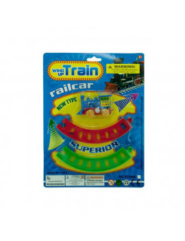 Bulk Buys OC259-48 Wind Up Toy Train With Track Set