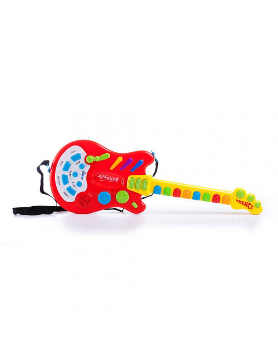Dimple Toy Electric Guitar with over 20 Interactive Buttons, Levers and Modes with Sound and Lights by Dimple