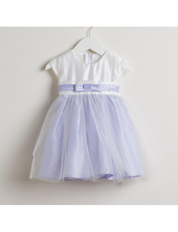 Sweet Kids Baby Girls Lilac Satin Tulle Easter Special Occasion Dress 6-24M