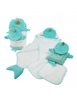 Baby Aspen Narwhal Bath Gift Set, 4 Pc