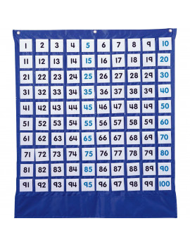 Carson Dellosa Deluxe Hundred Board Pocket Chart