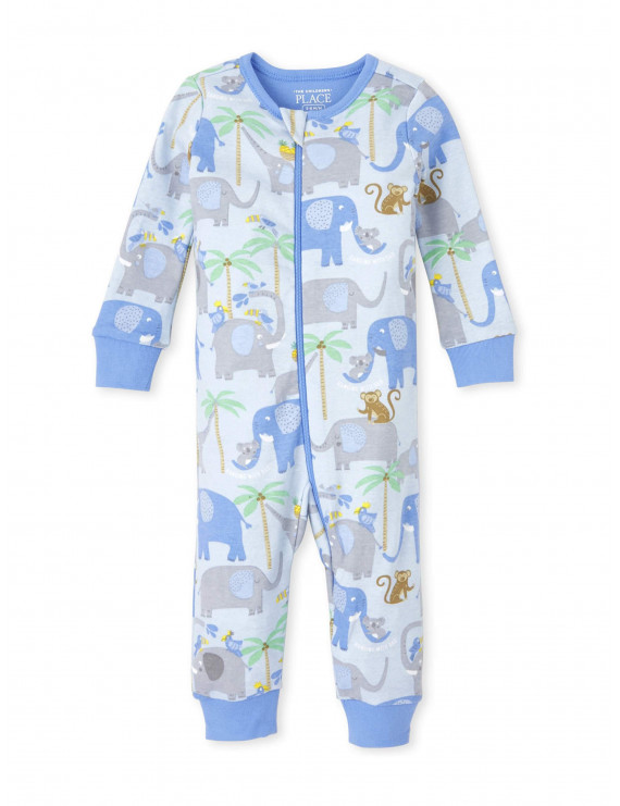The Children's Place Baby Toddler Boy Long Sleeve Stretchie Pajamas