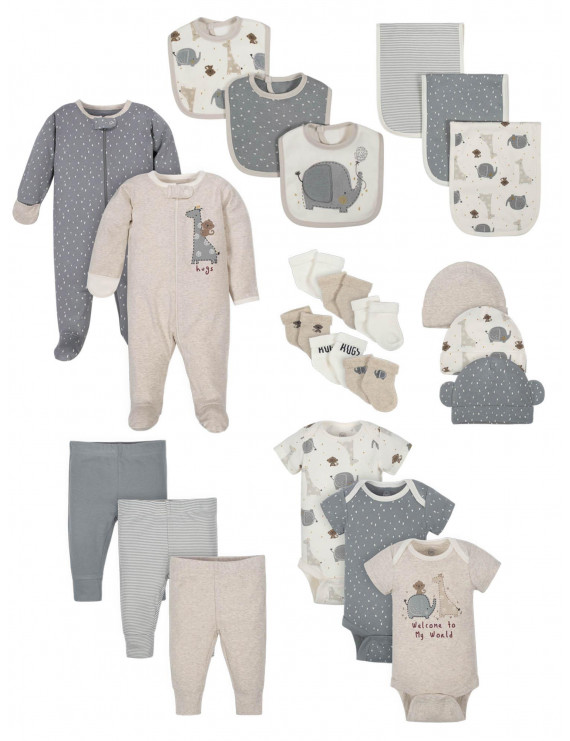 Wonder Nation Baby Boy or Girl Gender Neutral Shower Layette Gift Set, 23-Piece