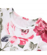 Funcee Kid Girl Floral Short Sleeve Ruffle Blouse + Ripped Jeans Baby Clothing Set