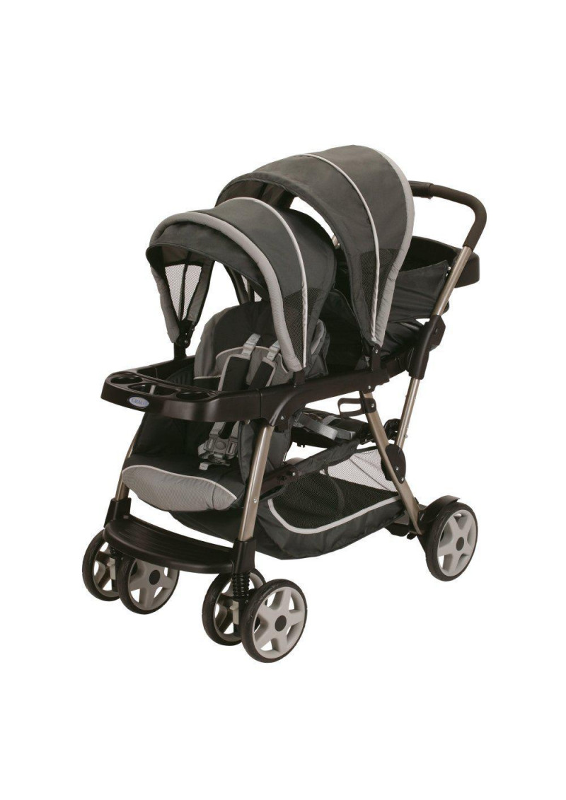 Graco Ready2Grow Click Connect LX Double Stroller, Glacier ...