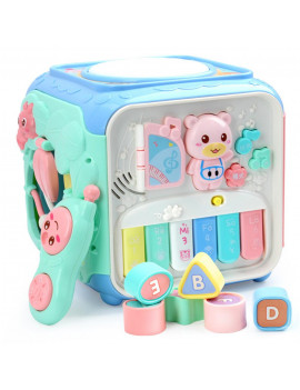 Activity Cube Toys Educational Bead Play Center for Toddlers Boys Girls
