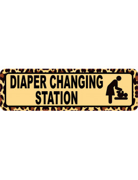 10in x 3in Leopard Print Diaper Changing Station Sticker