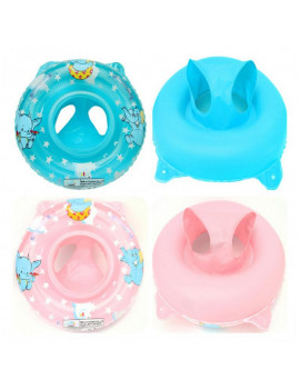 0-5Y Baby Swimming Lifebuoy Inflatable Play Water Cartoon Animals Safe Ring