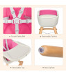Babyjoy 3 in 1 Convertible Wooden High Chair Baby Toddler Highchair w/ Cushion GrayBeigeYellow Pink