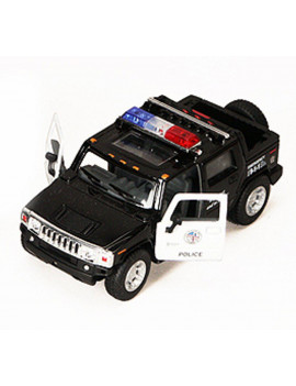 2005 Hummer H2 SUT Police Pickup Truck - Kinsmart 5097DP - 1/40 scale Diecast Model Toy Car (Brand New, but NOT IN BOX)